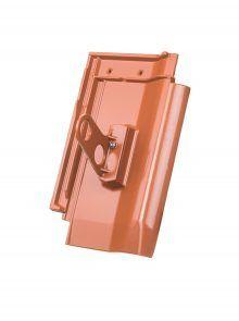 Doppelrohrhalterung mit Grundpfanne für W6v Flachdachpfanne - Zubehör Dachziegel