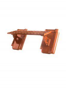 Langrost mit Grundpfannen für J11v Flachdachziegel - Zubehör Dachziegel
