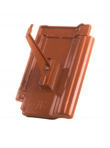 Schneefanggitterhalter mit Grundpfanne für J11v Flachdachziegel - Zubehör Dachziegel