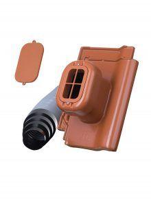 Sanitärlüfter mit Flexschlauch DN 125 für J11v Flachdachziegel - Zubehör Dachziegel