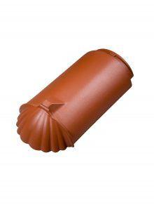 Gratanfänger Muschelform zylindrisch - Firstzubehör Dachziegel