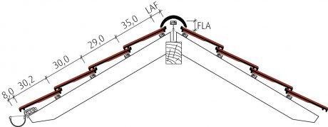 Standard Falzziegel Z7v Beispiel Firstausbildung