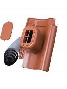 Sanitärlüfter mit Flexschlauch DN 125 für Großfalzziegel Z9 - Zubehör Dachziegel