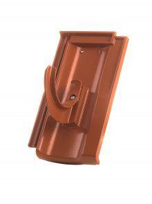 Rundholzhalterung mit Grundpfanne für Standard Falzziegel Z7v - Zubehör Dachziegel