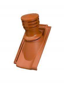 Tondunstrohr inkl. Durchlassziegel und Schlauch für Standard Falzziegel Z7v - Zubehör Dachziegel